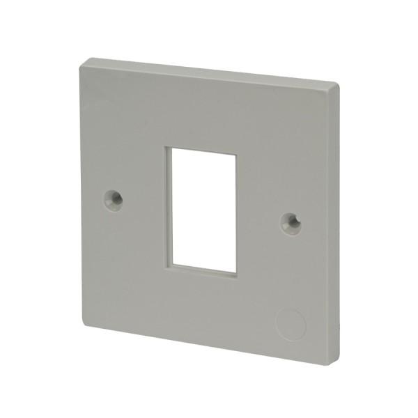 Faceplate Flat Single 1 x LJ6C White 86 x 86mm white