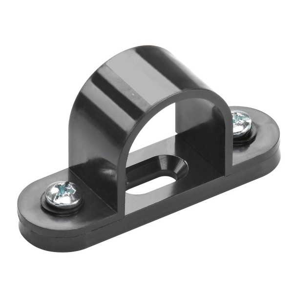 Conduit Space Bar Saddle PVC Black (Dia) 25mm
