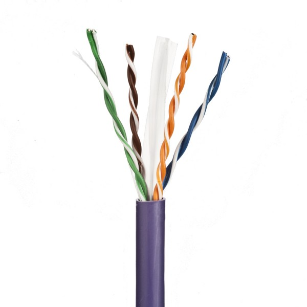 Cat6 Data Cable Solid U/UTP LSZH 4 Pair Violet 305m