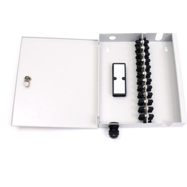 Fibre Optic Breakout Box Lockable 24 Way Single MM ST Simplex