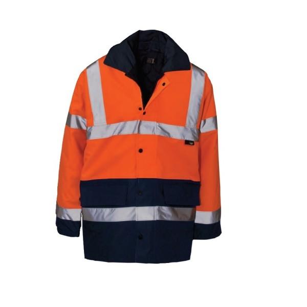 Hi-Viz Jacket Large 100-108cm Orange/Navy