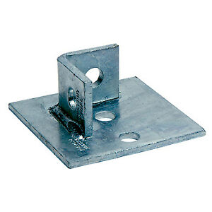 Channel Bracket Base Support Hot Dip Galvanised Steel P2072-S1 (W) 45mm x (D) 93mm x (L) 93mm