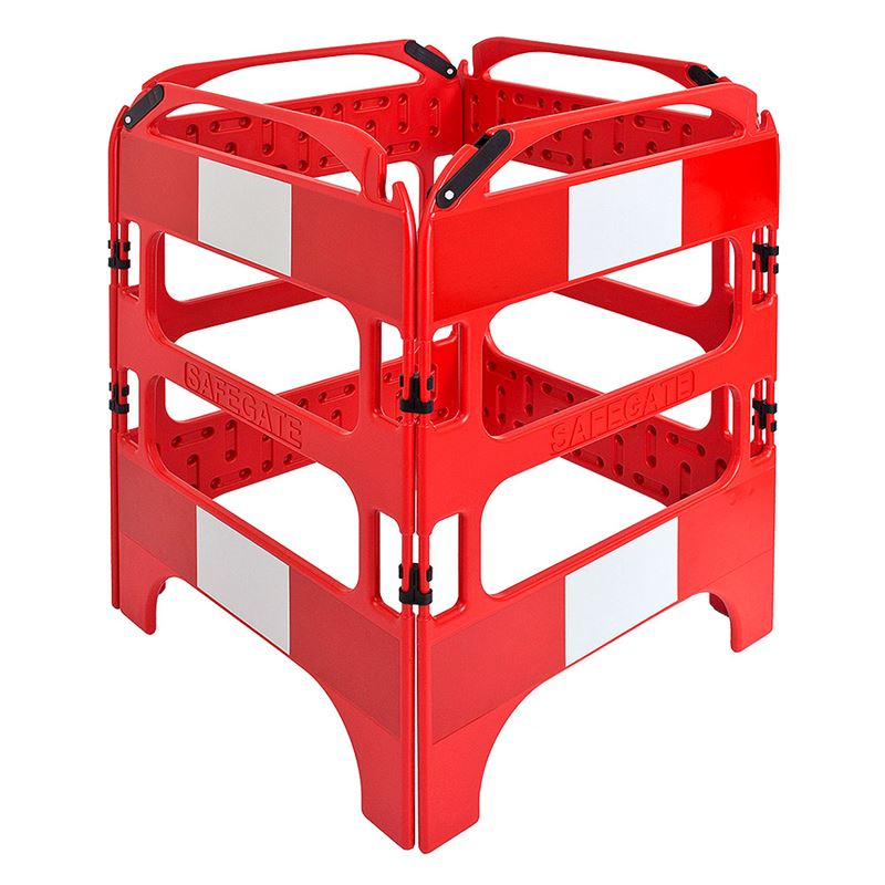 SafeGate Panel Barrier System 4 Gate Plastic Red/White