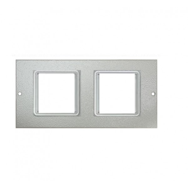 Floor Box Faceplate 4x Euro (For 3 Way Shallow & Deep) Grey (H) 89mm x (L) 185mm