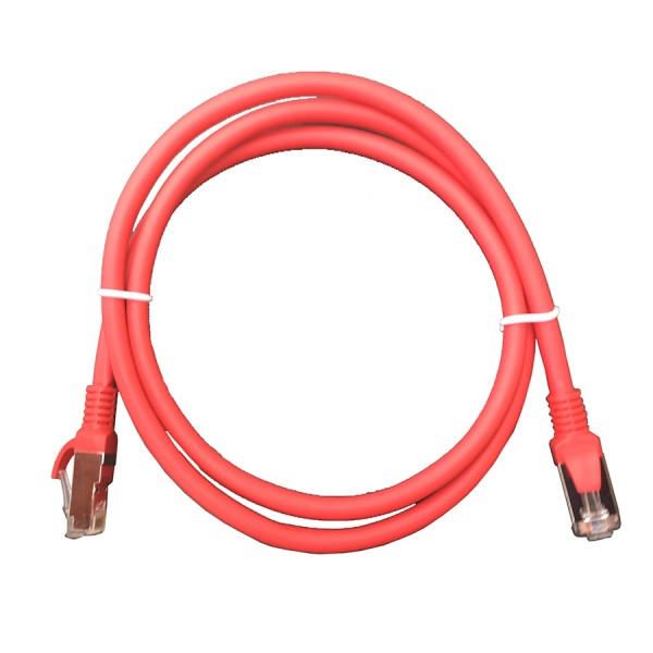Cat6A F/UTP LSZH Patch Lead Red 1m