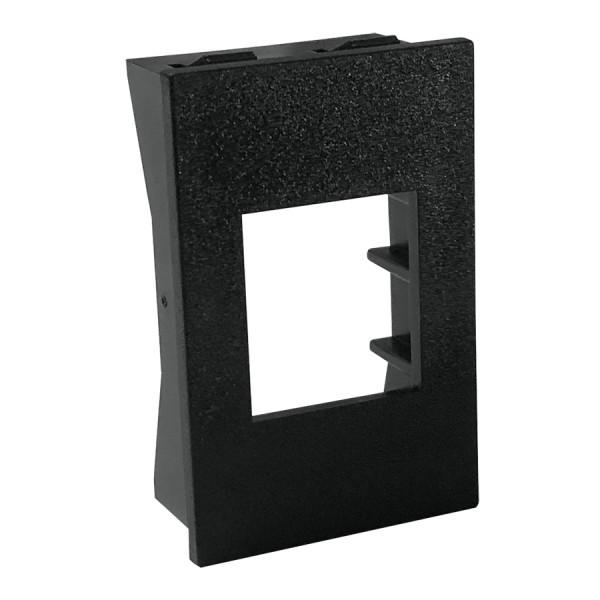 Keystone Adaptor Unshuttered Flat 1 x LJ6C Black