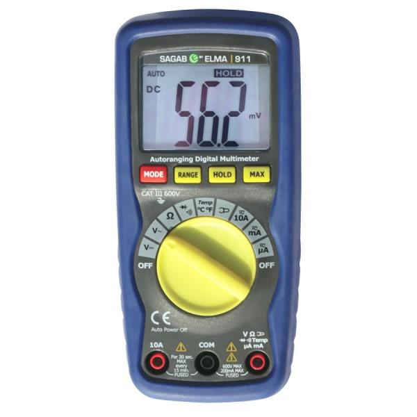 Digital Multimeter Elma 911 Professional Multimeter with Temperature 600V AC/DC 0-20MOhm