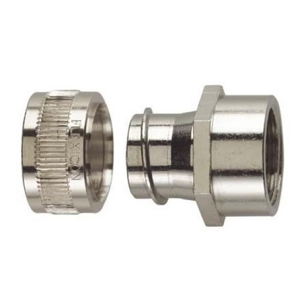 Conduit Gland FU Straight M20 Nickel Plated Brass (no locknut) IP40 (Dia) 20mm (10)