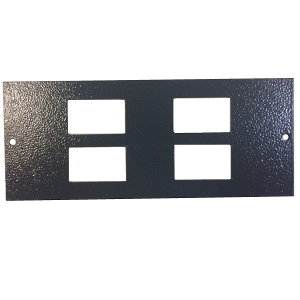 Floor Box Faceplate 4x LJ6C (For 3 Way Compact) Grey (H) 76mm x (L) 185mm