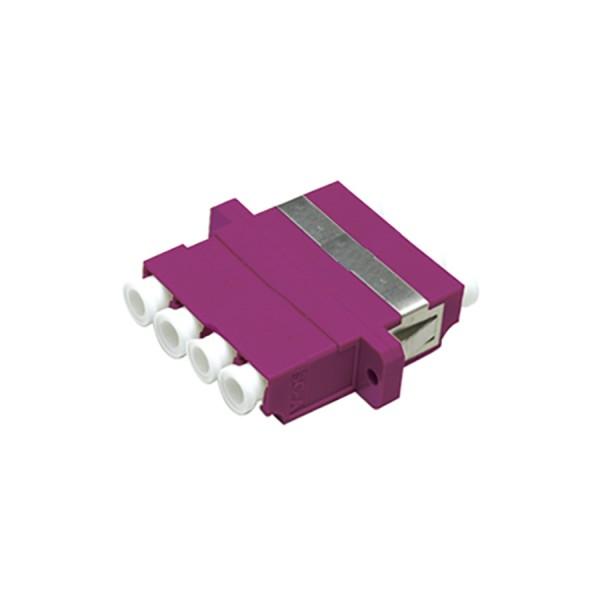 Fibre Optic Adaptor LC Quad MM Ceramic Violet
