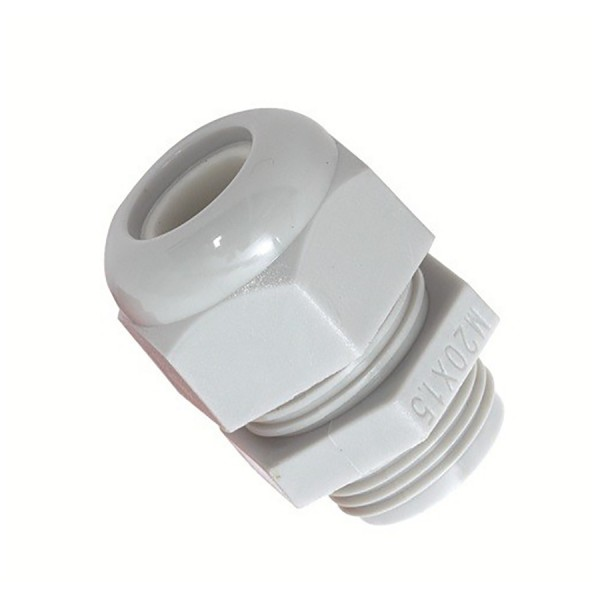 Sealed Cable Gland & Locknut M25 Nylon IP68 Grey Clearance Hole 25mm Cable Dia 13mm-18mm Gland Length 32mm-41mm