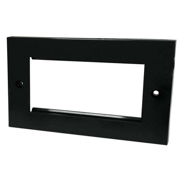 Faceplate Flat double 4 x Euro 86 x 146mm Black