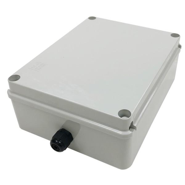 Fibre Optic Breakout Box IP56 16 Way MM LC 4 x Quad Breakout Box Grey