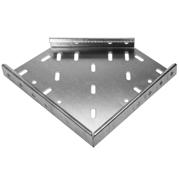 Cable Tray Flat Bend Heavy Duty Pre-Galvanised 45 Degree AHDF4 (W) 100mm x (D) 50mm