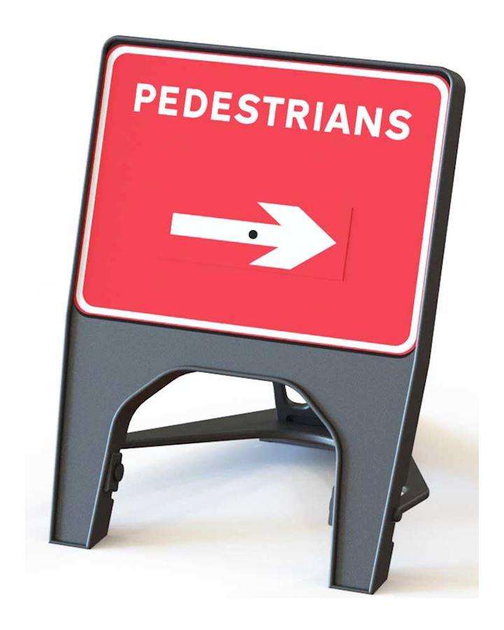 Q' Sign Pedestrian Arrow Right