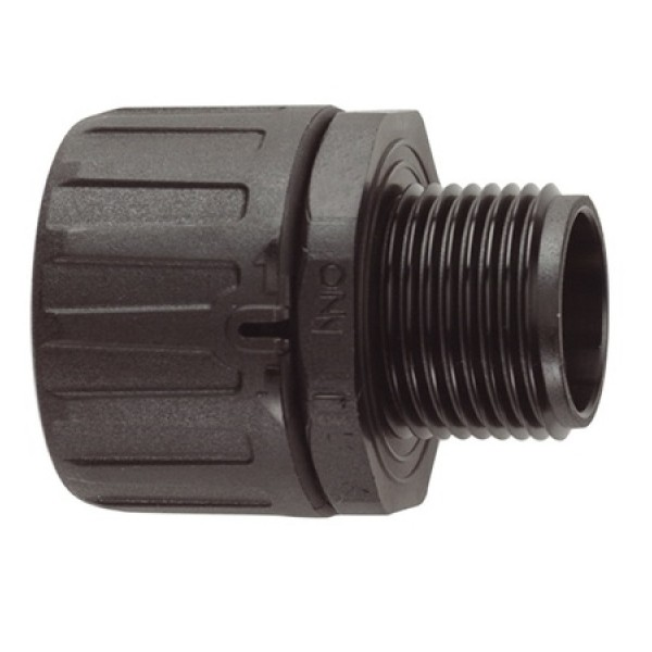 Conduit Gland FPA Straight M25 Nylon (inc locknut) IP66 Black (Dia) 25mm (10)
