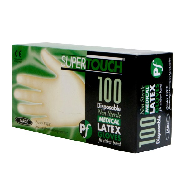 Latex Gloves Powder Free Single Use Size Large