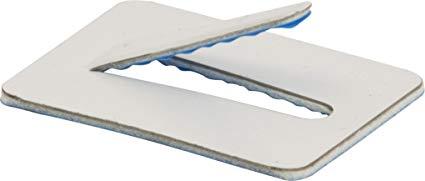 SAF Standard Clip Self Adhesive SAF4 White (W) 38mm x (L) 53mm Size 16mm(50)