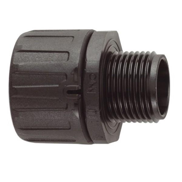 Conduit Gland FPA Straight M20 Nylon (inc locknut) IP66 Black (Dia) 20mm