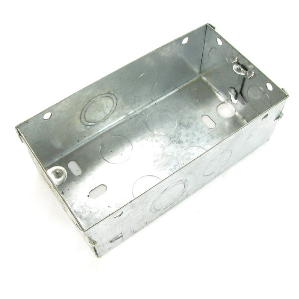 Pattress Box Double Gang Steel Flush Mount (D) 47mm NX-BB-016
