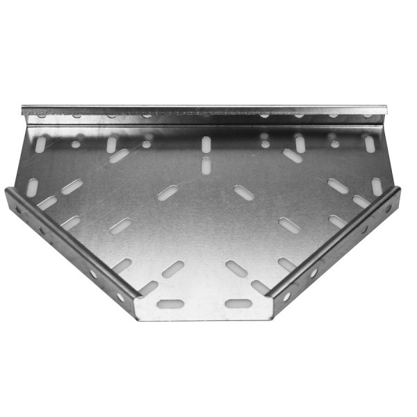 Cable Tray Flat Equal Tee Medium Duty Pre-Galvanised AMDT4 (W) 100mm x (D) 25mm