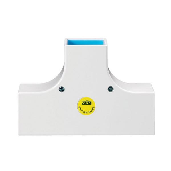Trunking Maxi Flat Tee Fabricated PVC TRK – Heavy Duty White (H) 75mm x (D) 75mm