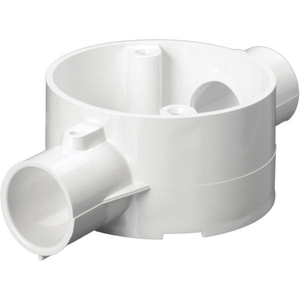 Conduit Through Box Circular Junction No Lid PVC White (Dia) 25mm