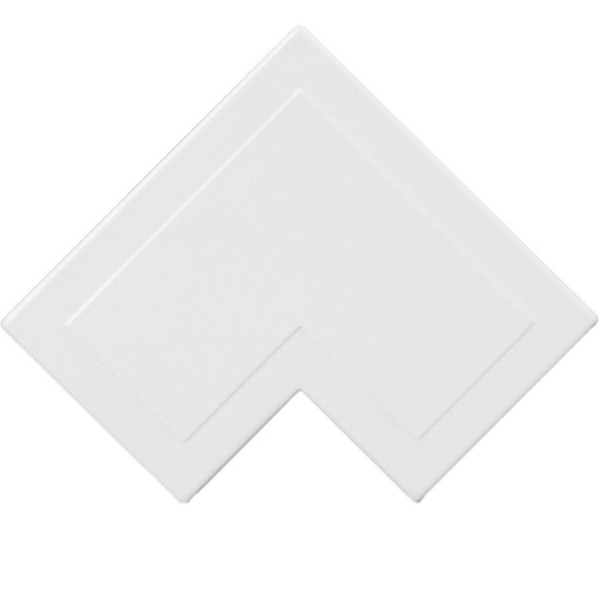 Trunking Mini Flat Angle PVC White (H) 38mm x (D) 25mm