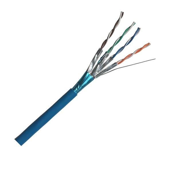 Cat6A Data Cable Solid F/FTP LSZH 4 Pair Light Blue 305m reel