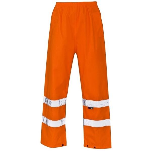 Hi-Viz Waterproof Trousers Large Orange
