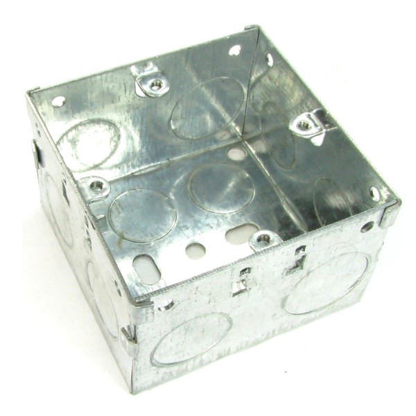 Pattress Box Single Gang Steel Flush Mount (D) 47mm NX-BB-015