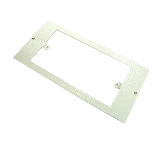 Floor Box Faceplate 1x Double Gang (For 3 Way Shallow & Deep) Grey (H) 89mm x (L) 185mm ST0287