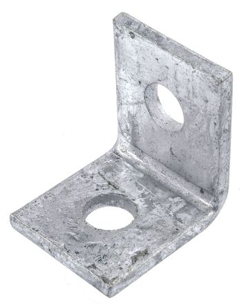 Channel Bracket Angled 90 Degree Hot Dip Galvanised Steel 1+1 Hole P1026 (W) 50mm x (D) 47mm