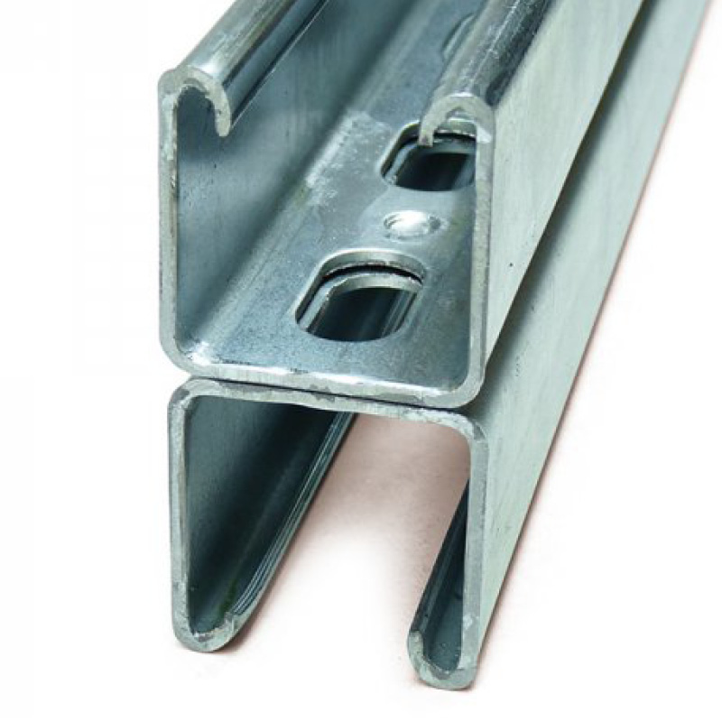 Channel Support Slotted Double Pre-Galvanised M12 Slot P1001TPGX3 (W) 41mm x (D) 83mm x (L) 3m