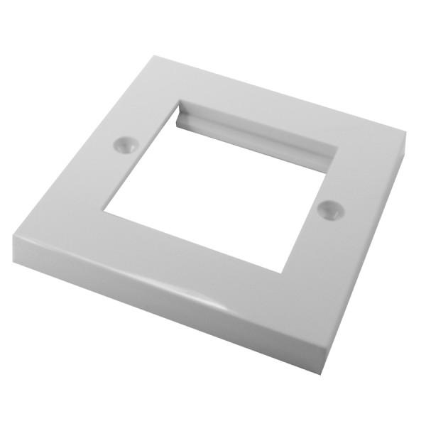 Faceplate Flat Single 2 x Euro 86 x 86mm White