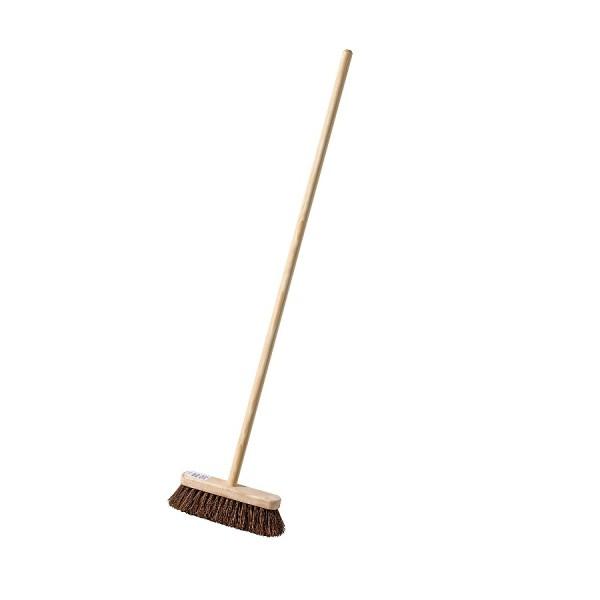 Broom Head with Handle Stiff Bassine Heavy Duty