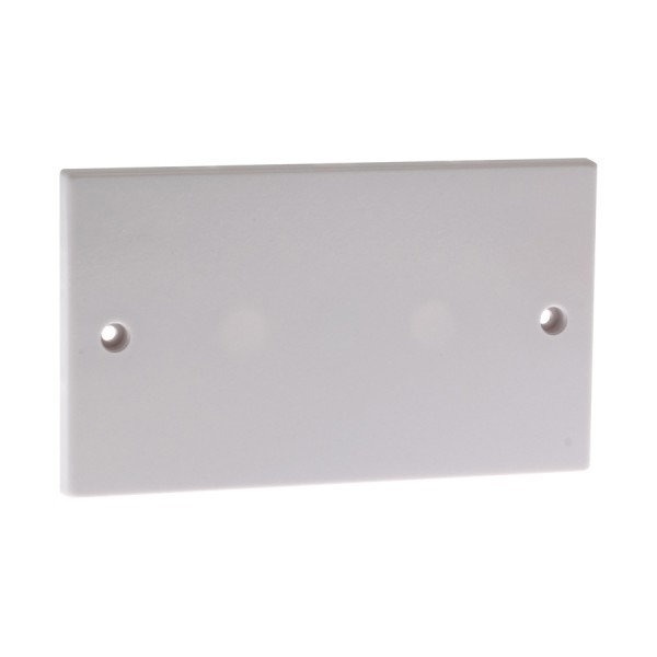 Blanking Plate Double Gang White (H) 86mm x (W) 146mm