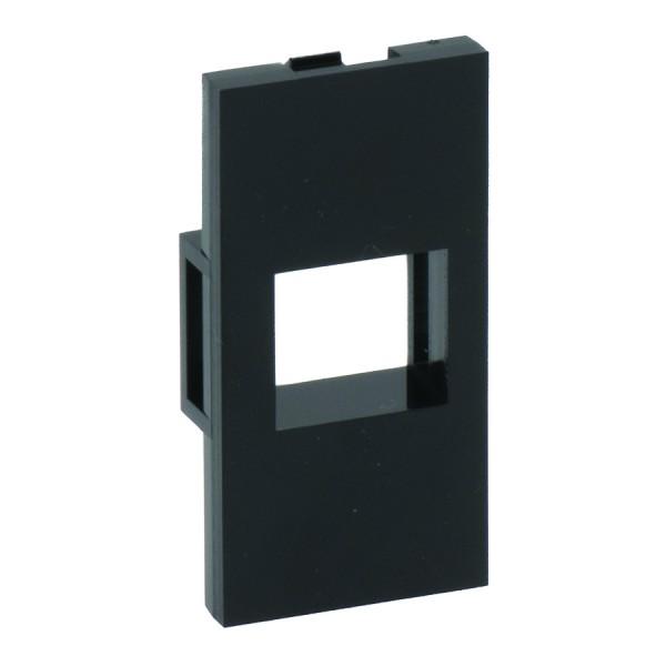 Keystone Adaptor Unshuttered Flat Euro Black