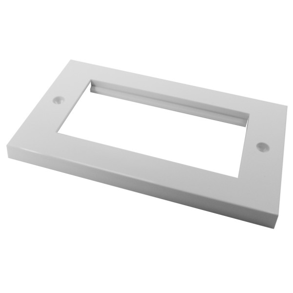 Faceplate Flat Double 4 x Euro 86 x 146mm White