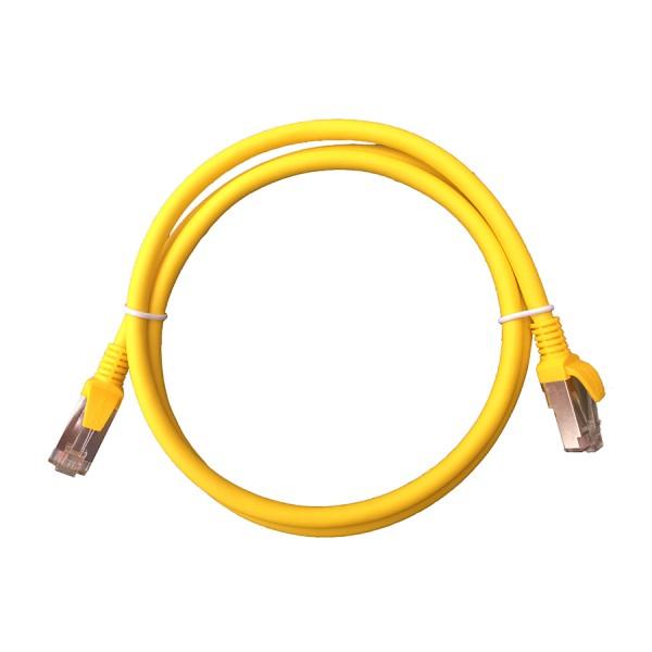 Cat6A F/UTP LSZH Patch Lead Yellow 0.5m