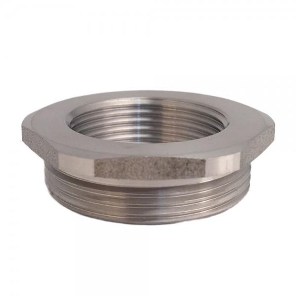 Metric Thread Adaptor M25 Male M20 Female Nickel Plated Brass