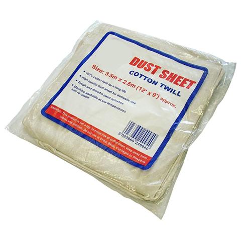 Dust Sheet Cotton Twill (W)12′ x (D)9′