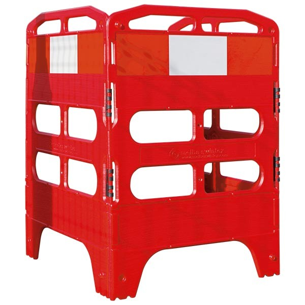 Utility Barrier System 3 Gate Plastic Red/White