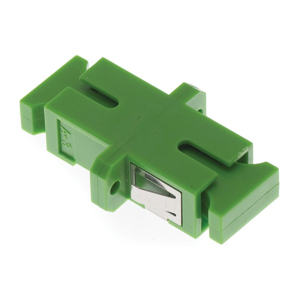 Fibre Optic Adaptor SC/APC Simplex SM Ceramic Green