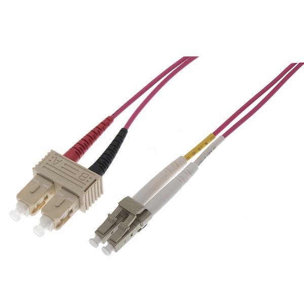 Fibre Patch Lead Duplex MM LC-SC OM4 LSZH 2 Metre