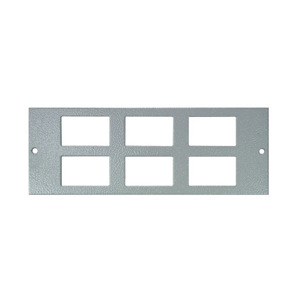 Floor Box Faceplate 6x LJ6C (For 4 Way) Grey (H) 68mm x (L) 185mm
