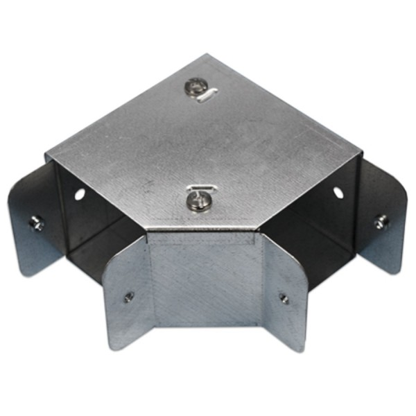 Trunking Bend Top Lid Pre-Galvanised 90 Degree AGBT44 (H) 100mm x (W) 100mm