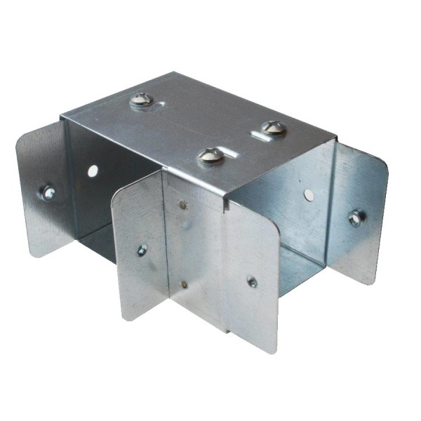 Trunking Square Bend Top Lid Pre-Galvanised 90 Degree ASBT44 (H) 100mm x (W) 100mm