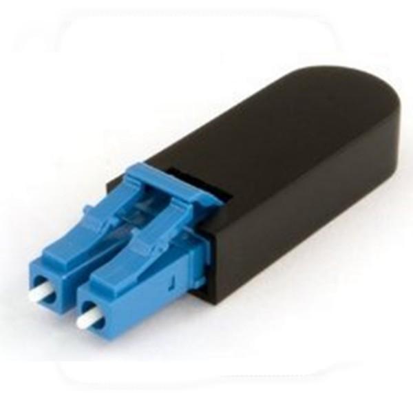 Fibre Loop Back Connector Duplex SM LC Ceramic Blue