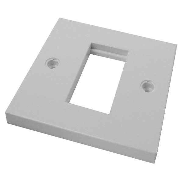 Faceplate Flat Single 1 x Euro 86 x 86mm White